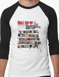 DMU SH*W 2010 (black text) Men's Baseball ¾ T-Shirt