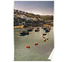 Mevagissey boats Poster