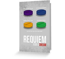 REQUIEM FOR A DREAM - MINIMAL  Greeting Card