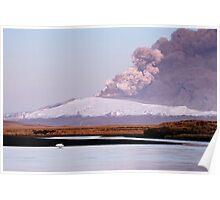 Eruption on Eyjafjalla Glacier #4 Poster