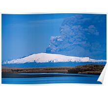 Eruption on Eyjafjalla Glacier #6 Poster