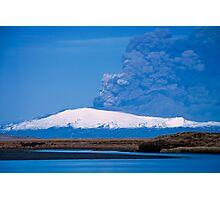 Eruption on Eyjafjalla Glacier #6 Photographic Print