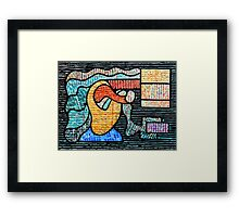 FIGURE IN ABSTRACTION Framed Print