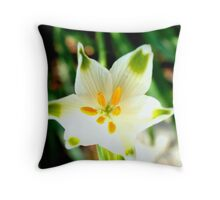 Star shaped beauty Throw Pillow