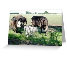 Friends come to say Moo to Casper Greeting Card