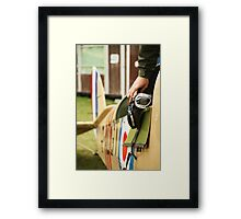 Fighter Goggles Framed Print