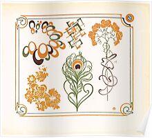Maurice Verneuil Georges Auriol Alphonse Mucha Art Deco Nouveau Patterns Combinaisons Ornementalis 0035 Poster