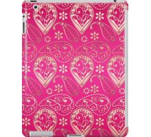 Chic girly pink gold floral paisley pattern iPad Case/Skin