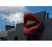 The Lips of Newtown Sydney Photographic Print