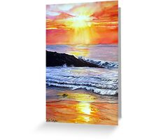 Sunset Glow Greeting Card