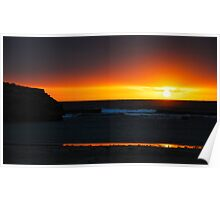 Setting sun - Warrnambool Poster