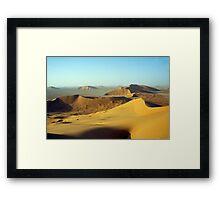 Empty desert.... Framed Print