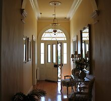 Hallway of restored country parsonage by Jan Jolley