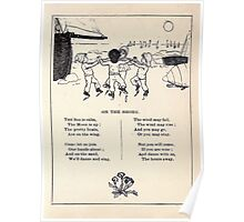 Miniature Under the Window Pictures & Rhymes for Children Kate Greenaway 1880 0049 On the Shore Poster
