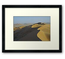 At the top of the dune.. Framed Print