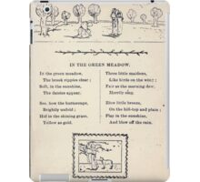 Miniature Under the Window Pictures & Rhymes for Children Kate Greenaway 1880 0043 In the Green Meadow iPad Case/Skin