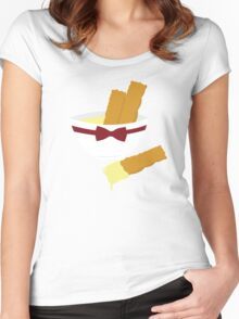 Fish fingers and custard Women's Fitted Scoop T-Shirt