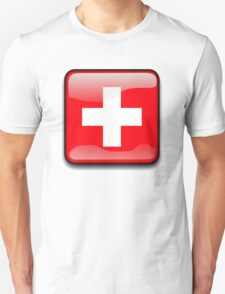 Switz Flag, Switzerland Icon T-Shirt