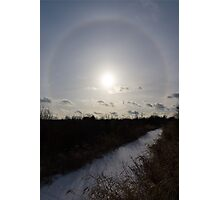 Sun Halo - a Beautiful Optical Phenomenon Photographic Print