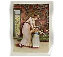 Kate Greenaway Collection 1905 0433 Two Girls in a Garden Poster