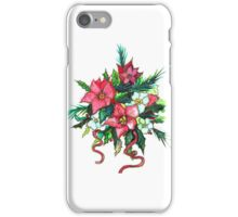 Christmas Flowers iPhone Case/Skin