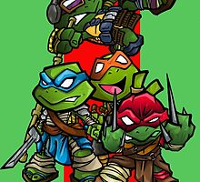 Teenage mutant ninja turtles MOVIE VERSION!!!!! by Bunleungart
