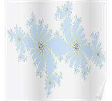 Floral Design in Light Blue Poster