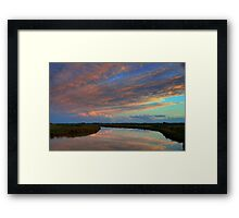Irrigation channel, in the pink Framed Print