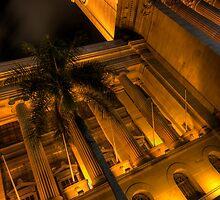 Brisbane City Hall by night by Ryan O'Donoghue