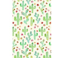 Watercolor Cacti Photographic Print