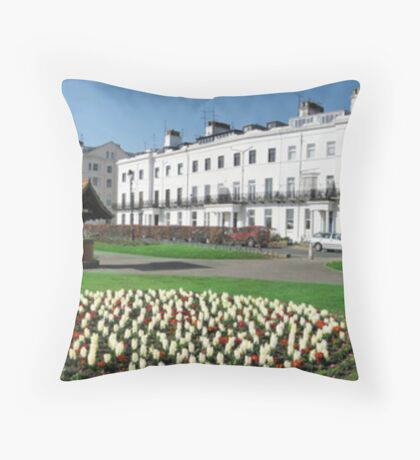 Bandstand & Gardens Filey Throw Pillow
