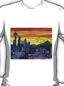 Seattle Pride Cityscape T-Shirt