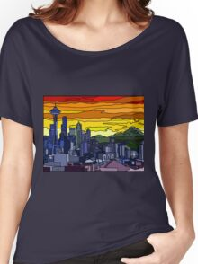 Seattle Pride Cityscape Women's Relaxed Fit T-Shirt