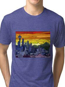 Seattle Pride Cityscape Tri-blend T-Shirt