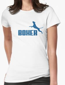 Boxer (blue) Womens Fitted T-Shirt