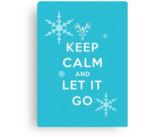 Keep calm and let it go Canvas Print