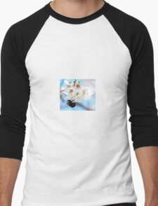 Bumble Bee In The Apple Blossoms Men's Baseball ¾ T-Shirt