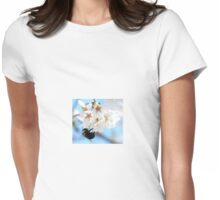 Bumble Bee In The Apple Blossoms Womens Fitted T-Shirt