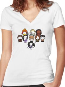 Hello Shiny Women's Fitted V-Neck T-Shirt