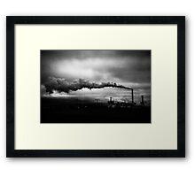 Industrial Eruption Framed Print