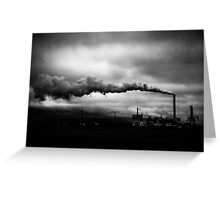 Industrial Eruption Greeting Card