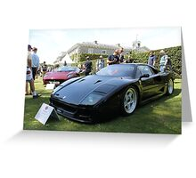Ferrari F40 and Jaguar XJ220 Greeting Card