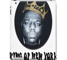 Biggie Smalls Notorious King Of New York White T-Shirt iPad Case/Skin