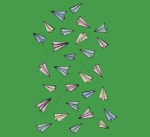 Paper Planes in Pastel Kids Clothes