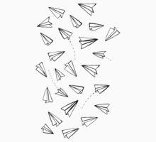 Paper Planes in Blue Kids Tee