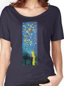 Looking from a window sticker Women's Relaxed Fit T-Shirt