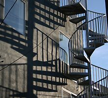Stair Shadows by Peter Baglia