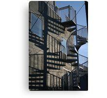 Stair Shadows Canvas Print