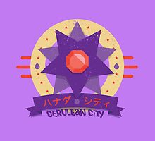 Kanto Gym Logos - Cerulean City (2015) by Cassandra  Downs
