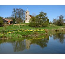 Idyllic Suffolk ( St Mary's Church, Aldham ) Photographic Print